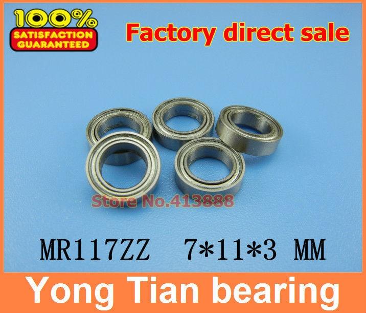 7x11x3mm  MR117ZZ  7*11*3  Metal Shielded Ball Bearing Bearings 100 pcs