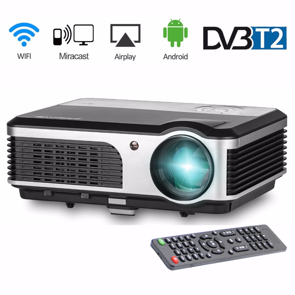 CAIWEI LCD LED Home Projector 3800 Lumens Digital TV WIFI Wireless Full HD DVB-T HDMI USB VGA Video Home Cinema Proyector Beamer tv home theater led projector support full hd 1080p video media player hdmi lcd beamer x7 mini projector 1000 lumens