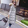 Large Natural Raccoon Fur Thick Long Down Jacket,White Duck Down Winter Jacket Women,Hooded Parka,Female Down Coats TT1652