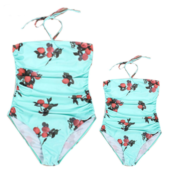 95ea7c8e3f242 PopReal Cute Mother Daughter Halter One Piece Matching swimsuit Hot Sale  Mommy And Me clothes Matching outfits For Summer Beach