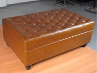 Top Grain Genuine Bedbeach Living Room Footstool Leather Bench For Changing Roo Bed Chair In Many