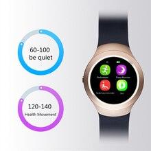 เดิมa28 smart watch k9 1.54นิ้วbluetooth4หนังแท้วงหัวใจติดตามตรวจสอบสำหรับiosและandroid lem3 smart watch