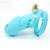 Silicone masculino chastity gaiola caralho dispositivo cinto de castidade cb6000 com 5 anel de pênis de silicone produtos do sexo adulto jogo azul