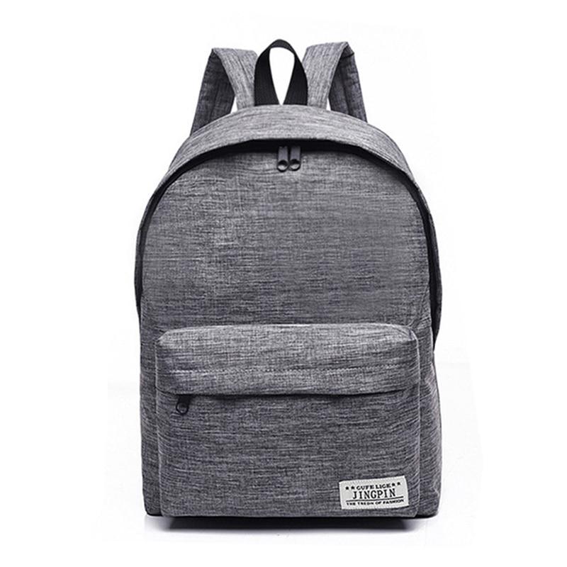 Simple Canvas Backpack Male High Quality School Bag Laptop Backpack Female Travel Men Bagpack Casual Stachels Rucksack Mochila billetera sailor moon
