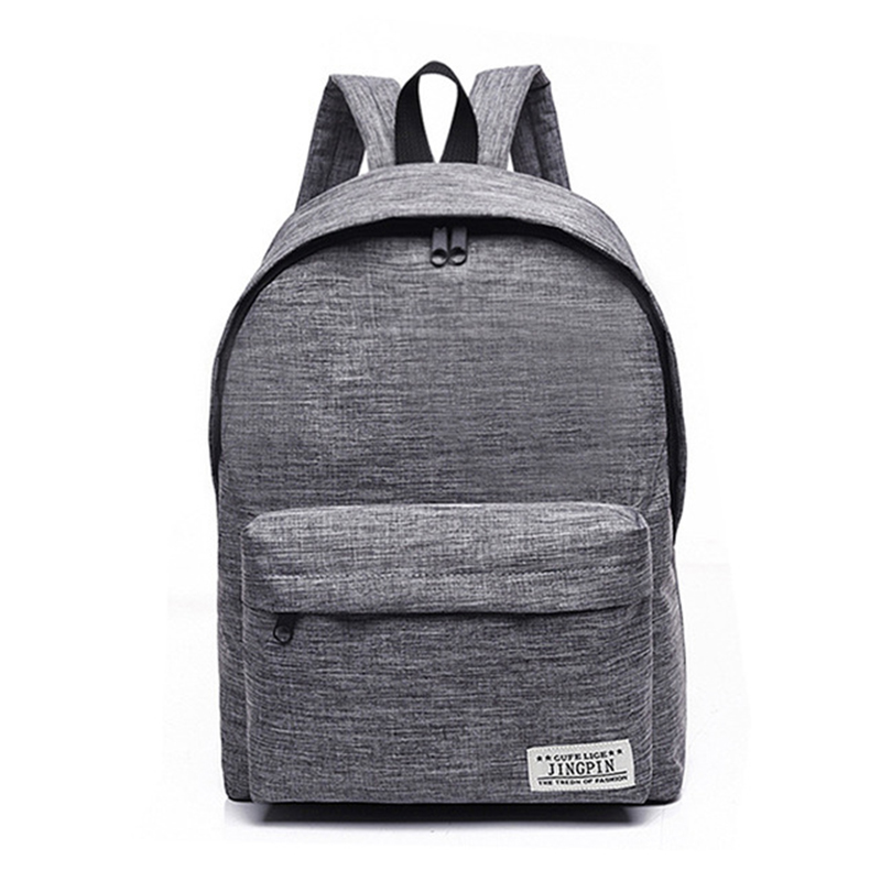 Simple Canvas Backpack Male High Quality School Bag Laptop Backpack Female Travel Men Bagpack Casual Stachels Rucksack Mochila pretty style high quality men backpack solid men s travel bags canvas bag mochila masculina bolsa laptop school backpack li 1263