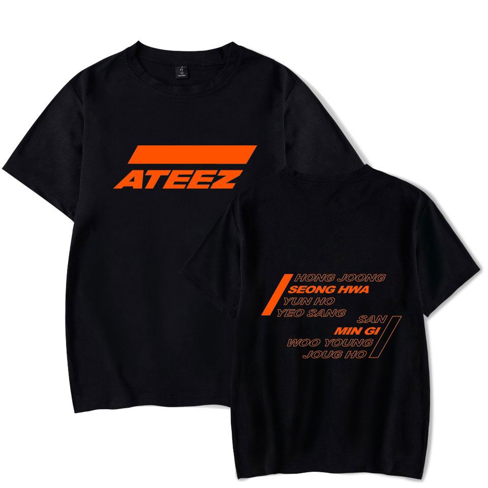 ATEEZ Print Casual T-shirts A TEEnager Z Summer Hot Sale Tops Short Sleeve Kpop ATEEZ Fans ATINY T-Shirts Plus Size