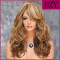 Synthetic Hair Long Curly 2 Color Women Long Wavy Princess Cosplay Wig Perruque SW-16