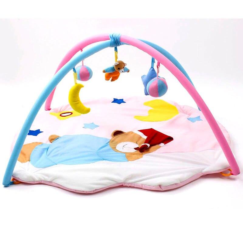 Cashibet dormir ours coton bébé jeu couverture bébé jeu pad ramper pad bébé jouet gym bébé douche cadeau