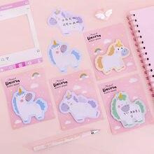 Śliczne różowe dziewczyny jednorożec notatnik N razy kartki samoprzylepne notatnik notatnik zakładka biuro szkolne prezent