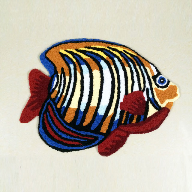 Free Shipping Handmade Fish Bath Rug Fish Bathroom Rug Shaggy Rug Machine  Washable Rugs And Carpets