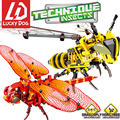 Simulated Insect Building Blocks DIY Dragonfly Bee Model Compatible LegoINGly Technic Creator