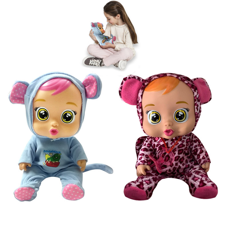 30cm Cry Baby Doll with Music Reborn Baby Doll Silicone Lifelike Magic Tears Doll Toys for Girls Kids Children Christmas Gifts30cm Cry Baby Doll with Music Reborn Baby Doll Silicone Lifelike Magic Tears Doll Toys for Girls Kids Children Christmas Gifts