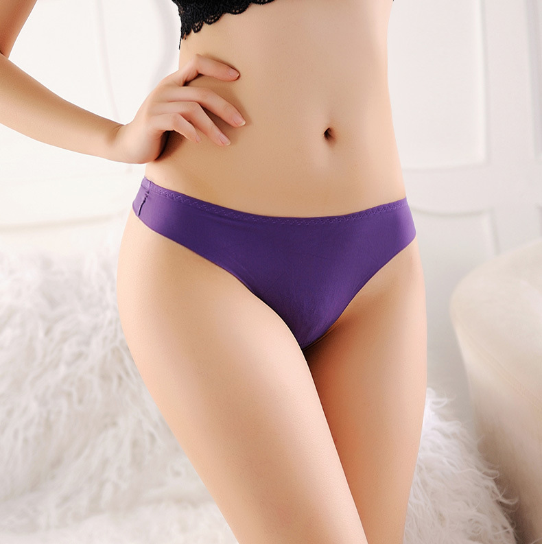 9 Colors New Ultra-thin Women Seamless G String Women's Intimates Traceless Sexy lingerie Underwear Panties Briefs