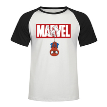 New 2019 Summer Printing Spiderman T Shirt Men Marvel Avengers Men Raglan T-Shirt Fashion Casual Short Sleeve T Shirt Tops&Tees lace trim raglan sleeve t shirt