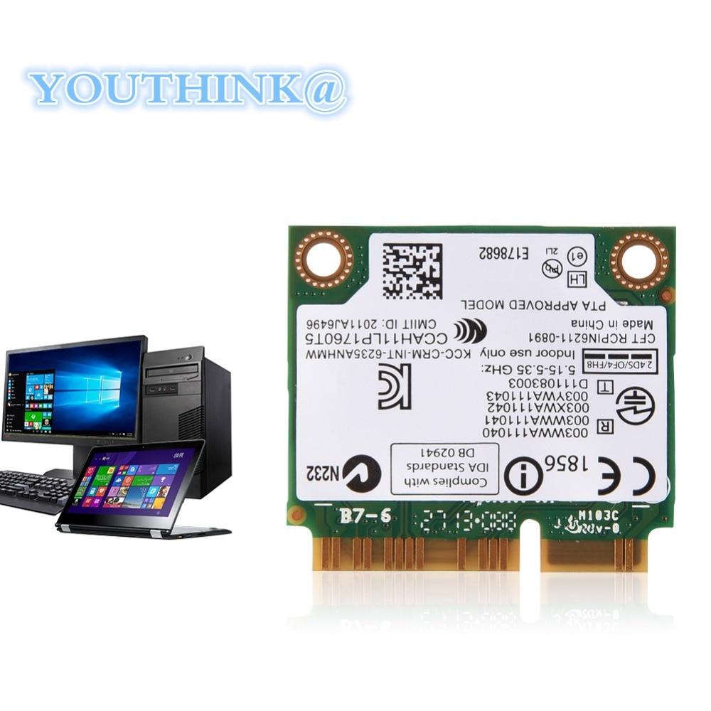 Bluetooth WIFI Carte pour Intel 300 Mbps 2.4/5G Double-Bande Ordinateur Portable Mini WIFI Carte PCI-E Carte WIFI pour Intel 945/965/GM45/PM45