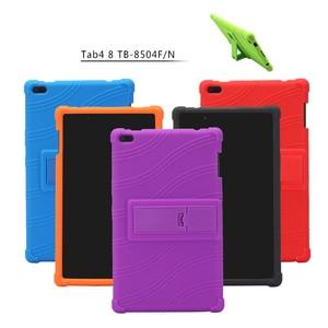 For Lenovo Tab 4 8 TB-8504X Soft Silicone Shockproof Funda For Lenovo TAB4 8 TB-8504F TB-8504N Tablet Case Kids Kickstand Cover
