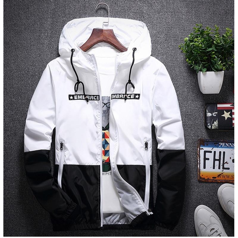 2018 New Arrival Mens Hooded Jacket Waterproof Thin Windbreaker Bomber Jackets Male Casual Zipper Coat Outwear Hombre Chaqueta