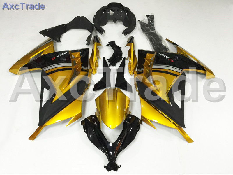 Motorcycle Fairings For Kawasaki Ninja 300 ZX300 EX300 2013 2014 13 14 ABS Plastic Injection Fairing Bodywork Kit Golden Black