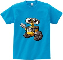 Robot Print Funny T-shirts children Short Sleeve T Shirts Robot T Shirt kids in Summer Tee shirt boy girl Multi-color clothes  N цены онлайн