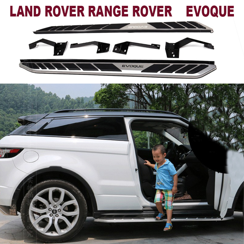 For LAND ROVER RANGE ROVER EVOQUE 2011.2012.2013.2014.2015.2016.2017 Running Boards Side Step Bar Pedals High Quality Nerf Bars ...