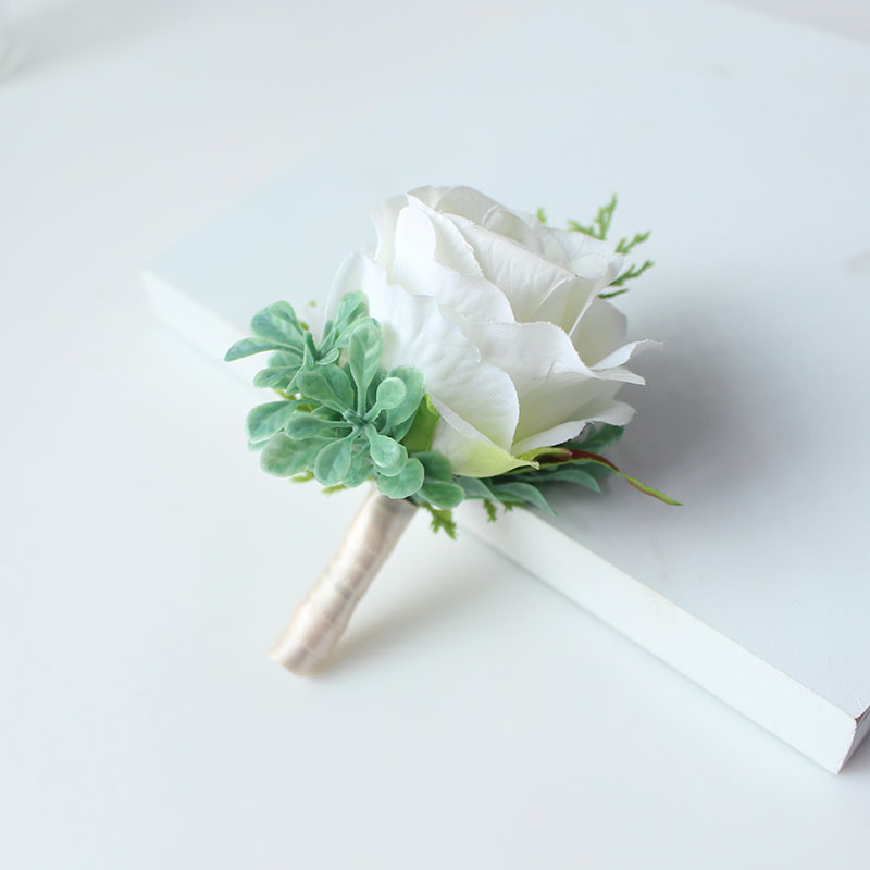 wedding boutonniere corsage groom  (34)