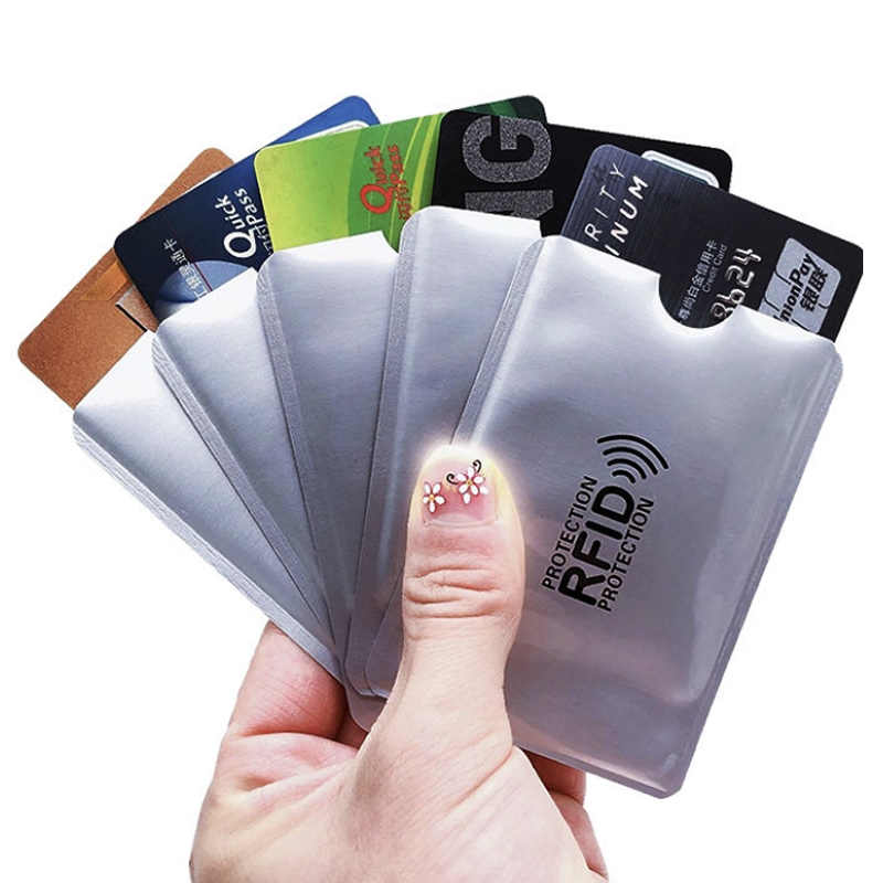 5PCS Women Men Function Rfid ID Card Holder Metal Aluminium Bus Car Bank Ic Card Business Credit NFC Cover Card Case 9.1*6.3cm