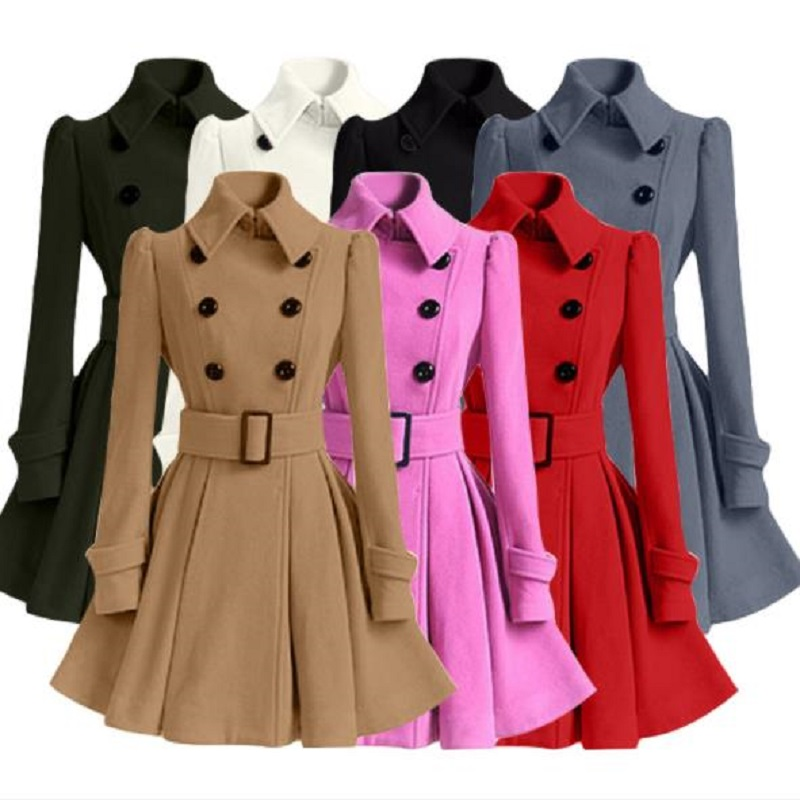 New autumn/winter womens clothing womens coat trench outerwear women jacket materntiy cl ...