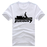 Cheap New Fast And Furious 7 Tops Tees O Neck Fashion Fast And Furious 7 Paul