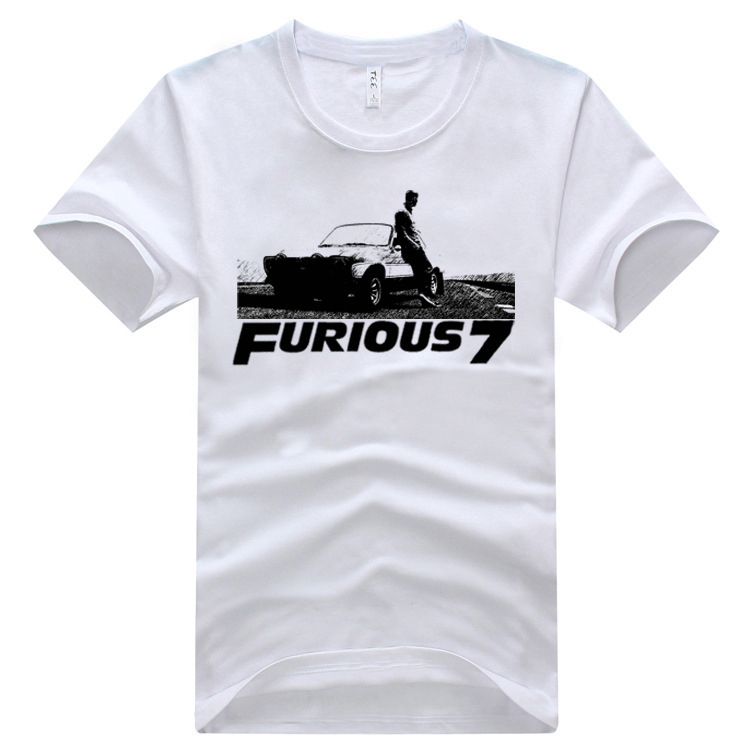 Cheap New Fast And Furious 7 Tops Tees O Neck Fashion Fast