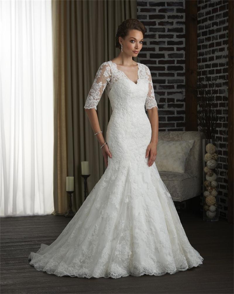 wedding dress plus size with sleeves half sleeve wedding dress Plus Size Wedding Dresses With Lace Sleeves Plus Size Wedding Dresses Boat Neck Half