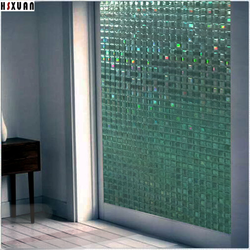 Pvc Mosaic Tint Window Stickers 90x100cm Decorative Sliding Glass Door  Self Adhesive Window Privacy Films