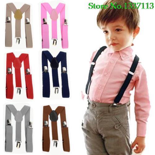 New Lovely Kids Suspender Elastic Adjustable Clip-On Braces For Children's Comfortablity 98TQ
