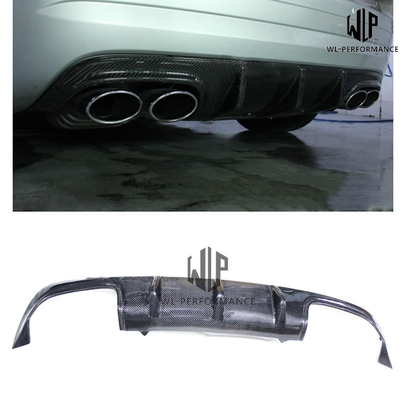 R172 AMG Style Carben Fiber Rear Lip Diffuser Car Styling For Mercedes-Benz SLK Class SLK200 SLK300 Car Body Kit 2012-2015