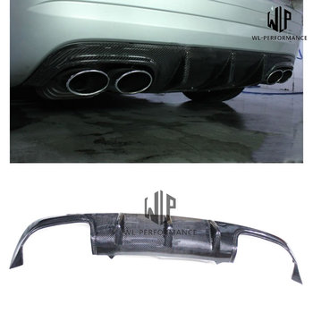 R172 AMG Style Carbon Fiber Rear Lip Diffuser Car Styling For Mercedes-Benz SLK Class SLK200 SLK300 Car Body Kit 2012-2015