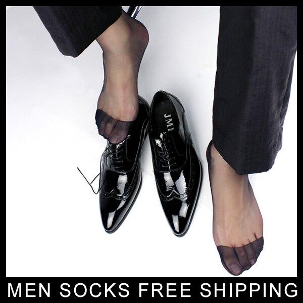 Men 39 s Ultra Sheer Black Dress Socks Long Hose Visual Male TNT suit Socks Formal Style Free shipping in Men 39 s Socks from Underwear amp Sleepwears
