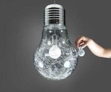 Envío gratis 300 mm * 450 mm de gran personalidad creativa cristal de hierro colgante grande del bulbo luces de barra de la lámpara colgante lámparas