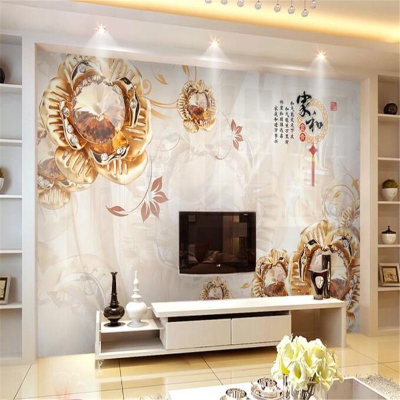 beibehang 3d custom photo wallpaper wall murals stickers Stereo flower dandelion watermark reflection 3D TV background