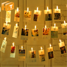 LED String Light Clip Lamp 20LED 40LED 100LED Card Photo Decoration Christmas Wedding Holiday Light.