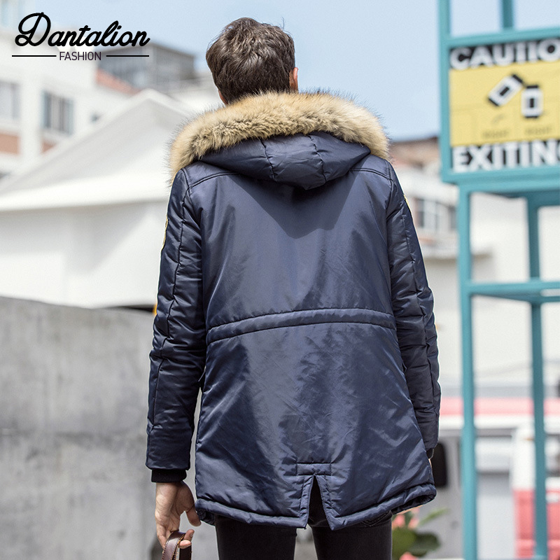 2018 autumn and winter new men's cotton coat long section large size parkas men's fashion jacket loose thick cotton clothing