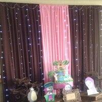 1X 4 5mx 3m 300LED White Light Romantic Christmas Wedding Outdoor Decoration Curtain String Light EU