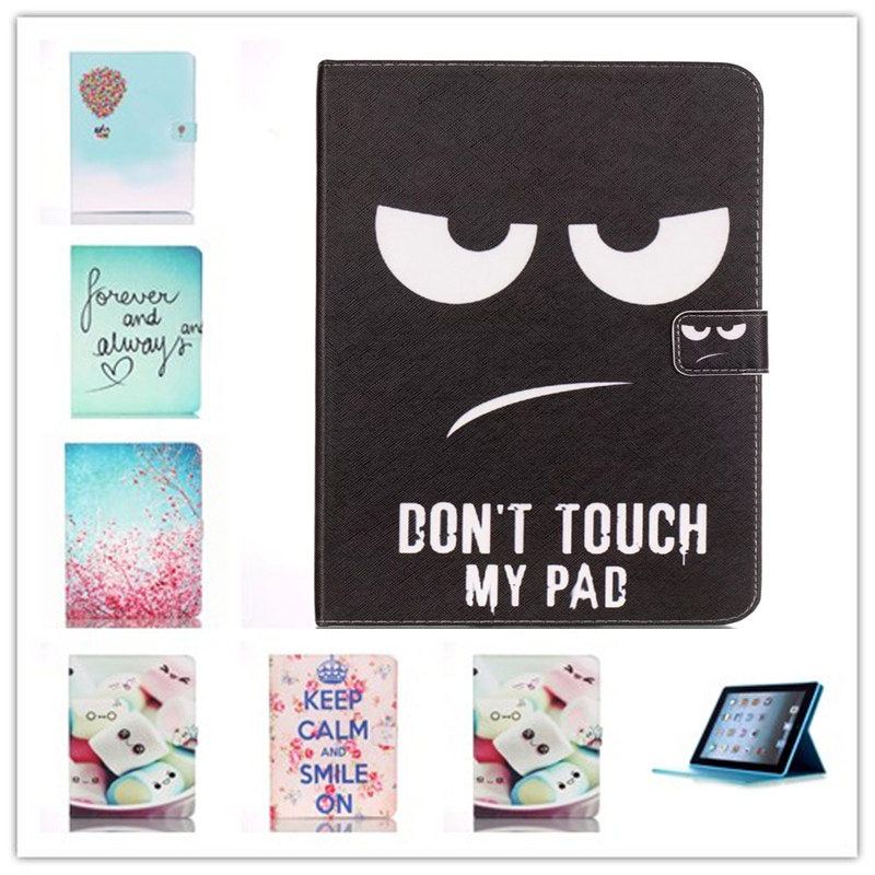 For Apple iPad 2/3/4 Case Beautiful Cute Print Cover For iPad3 Stand PU Leather tablet Bag Magnetic Smart  Shell Case Wallet pannovo waterproof pu leather extra thick anti shock eva case for gopro hero 4 3 3 2 sj4000