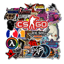 Lote de 50 Uds de Pegatinas de Anime CS GO para motocicleta, Pegatinas de juego para niños, Pegatinas de grafiti Mix Retro impermeables, F5