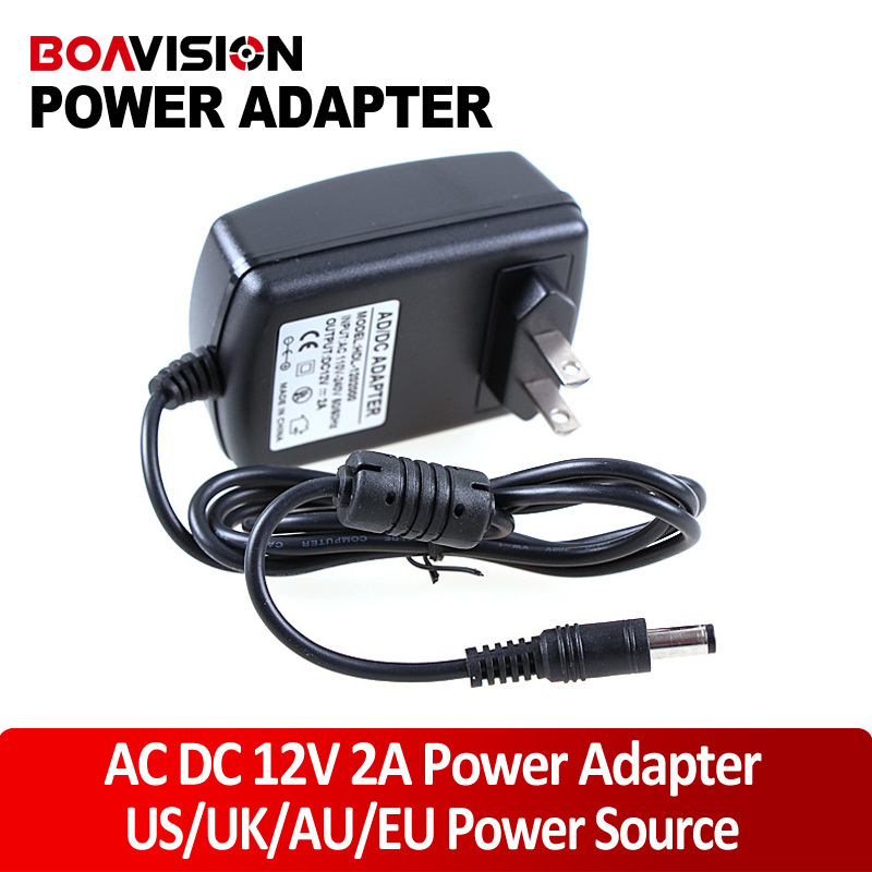 AC DC Adapter 12V 2A CCTV Power Supply /Power Adapter for Camera dc 12v 5a ac adapter cctv power supply adapter box 1 to 8 port for the cctv surveillance camera system abs plastic