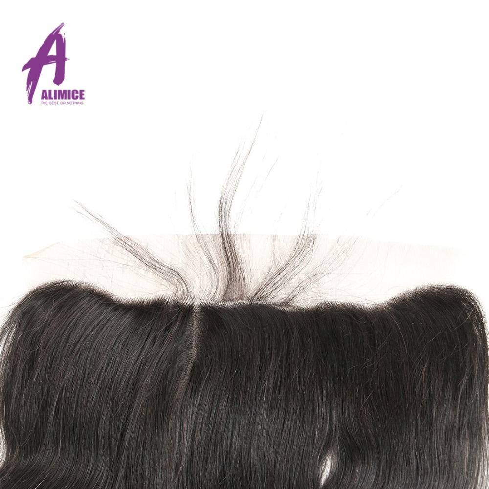 Alimice Lace Frontal Closure Indian Hair Body Wave 13x4 FreeMiddleThreeSide Part Human Hair Closure With Baby Hair 8-24inch (19)