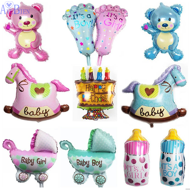 Baby Shower Mini Foil Teddy Bear Balloons Inflatable Air Balloons Classic Toys F