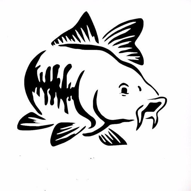 HotMeiNi Autocollant De Voiture 15*13.5 cm Carpe style De Pêche Kayak De Pêche Camion Bateau chambre aquarium Vinyle décoration Decal