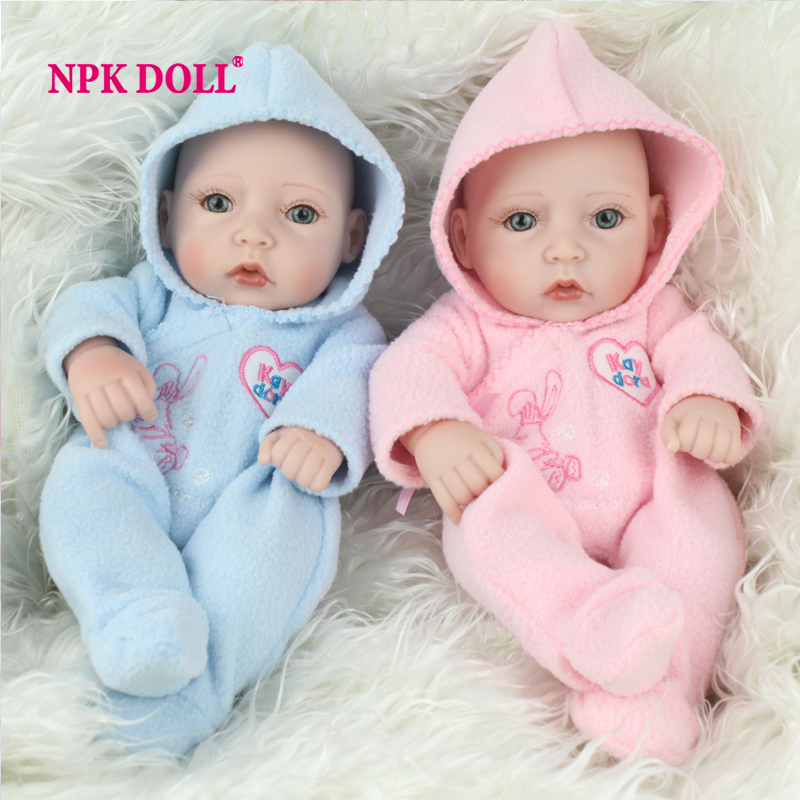 Full Body Silicone Reborn Dolls 10 Kawaii Twins Vinyl Baby Doll Real Lifelike Baby Dolls Toys For Children kawaii baby dolls