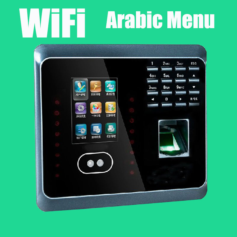 Arabic Menu Wireless Time and Attendance Fingerprint + Facial Recognition Terminal