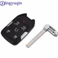 Jingyuqin Remote Smart Key Case Cover 3 Buttons For GMC Car Styling Key Shell Remote Fob