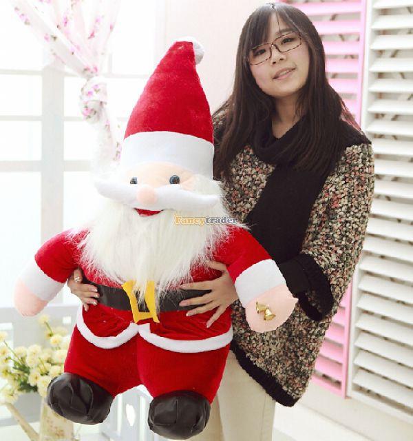 Fancytrader 2015 nouveauté 59 ''/150 cm jouet de père noël en peluche géant, décoration de cadeau de réveillon de noël, livraison gratuite FT50023